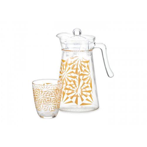 Набор для напитков Luminarc Neo Sofya Gold P5597 (1,3л,.310мл) 7пр