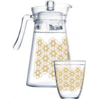 Набор для напитков Luminarc Neo Golden Flower Maze Q0569 (1,3л,310мл) 7пр