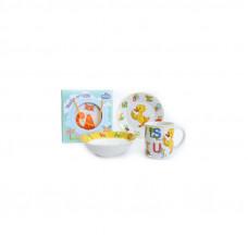 Набор для завтрака на 3 предмета Milika Smarty M0690-4 (кружка 240 мл, тарелка 17,5 см, салатник 15 см)