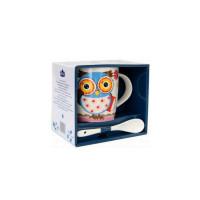 Кружка с ложкой Milika Owl Professor Color M0520-NM-12-A (350 мл)