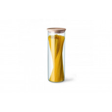 Емкость для хранения сыпучих с деревянной крышкой Simax s5132/LW (96х290мм)