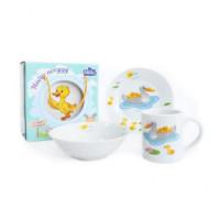 Набор для завтрака 3 предмета Milika Duck Family M0690-3 (кружка 240 мл,тарелка 17,5 см,салатник 15 см)