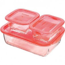 Набор контейнеров  Luminarc Keep'n'Box Coral P8178 (1970мл,380мл,380мл) 3шт