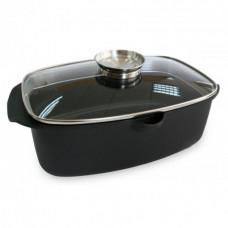 Гусятница алюминиевая с антипригарным покрытием Lessner Black Pro New 55873 (5,6 л)