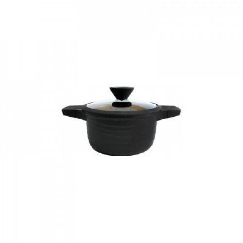 Кастрюля с антипригарным покрытием Lessner Black Pro New 55872-28 (6,5 л)