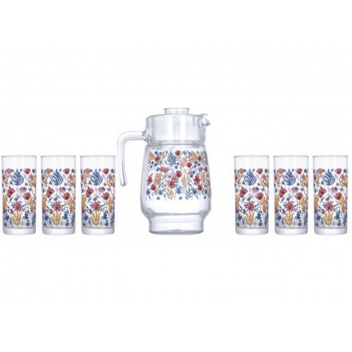 Набор для напитков Luminarc Amsterdam Spring Fiesta P4818 (1,6л,270мл) 7пр