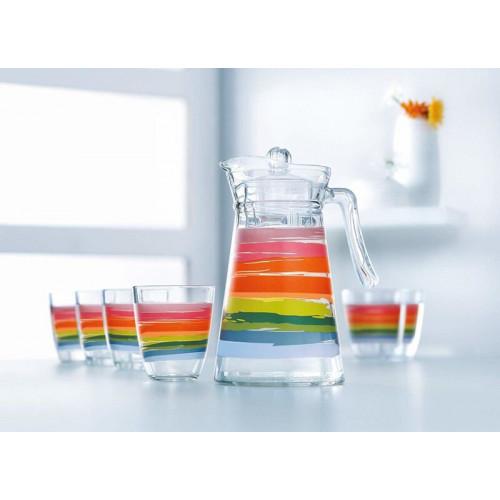 Набор для напитков Luminarc Neo Color Pencil N0792 (1,3л,310мл) 7пр