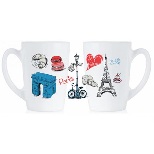 Набор кружек Luminarc New Morning Love Paris P9812 (320мл) 2шт