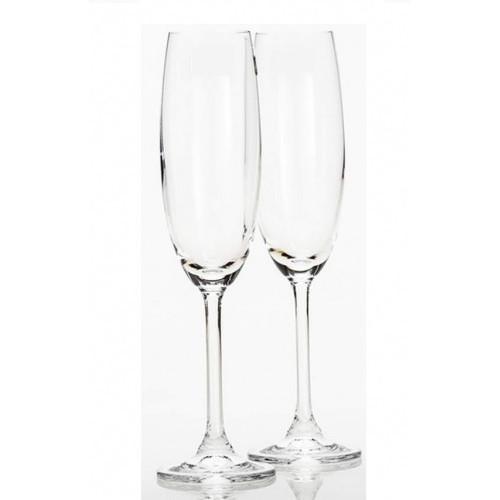 Набор бокалов для шампанского Bohemia Klara b4S415 (220мл) 2шт