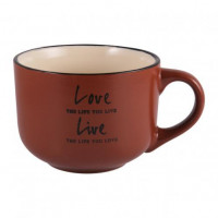 Чашка Milika Love&Live Brown M0420-L349DR (560мл)
