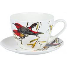 Чашка с блюдцем Limited Edition Bird YF6009 (550мл)