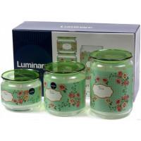 Набор банок для сыпучих продуктов Luminarc Plano Mint Green P9215 (0,5л,0,75л,1л) 3пр