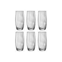 Набор стаканов высоких Bohemia Waterfall b25180-opt22 (350мл) 6шт
