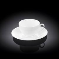Чашка кофейная с блюдцем Wilmax  WL-993187 / AB (80 мл)