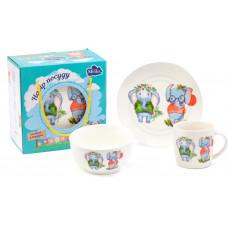 Детский набор для завтрака Milika Friendly Walk M0690-KS-2002 3пр