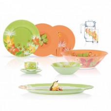 Сервиз столовый Luminarc Flowers Green/Orange N5207 (45пр)