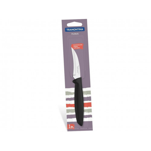 Кухонный шкуросъемный нож Tramontina Plenus Black 23419/103 (76мм)