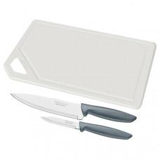 Набор кухонных ножей Tramontina Plenus Grey 23498/614 (3пр)