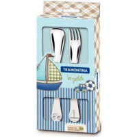 Детский набор столовых приборов Tramontina Baby Le Petit Blue 66973/010 (2пр)