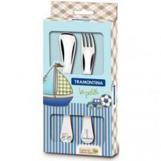 Детский набор столовых приборов Tramontina Baby Le Petit Blue 66973/010 2пр