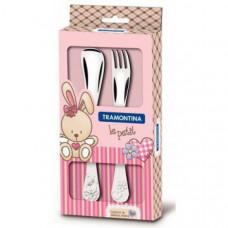 Детский набор столовых приборов Tramontina Baby Le Petit Pink 66973/015 2пр