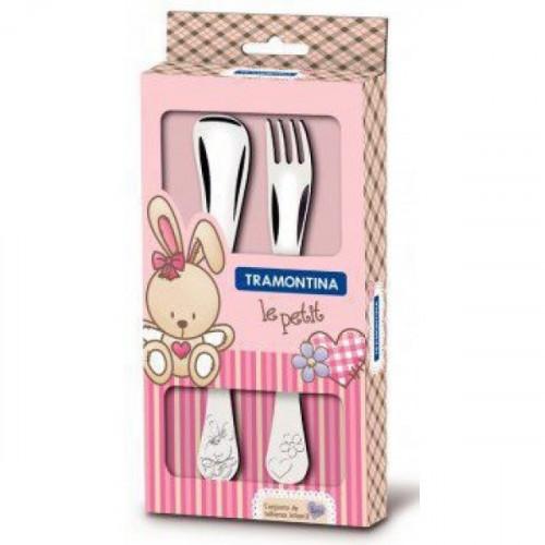 Детский набор столовых приборов Tramontina Baby Le Petit Pink 66973/015 (2пр)
