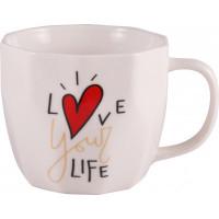 Чашка Milika Love your life White M0520-L254W (360мл)