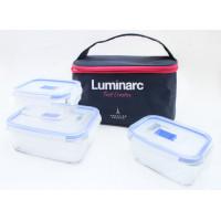 Набор пищевых контейнеров и сумка Luminarc Pure Box Active P7379 (380мл,380мл,820мл) 4пр