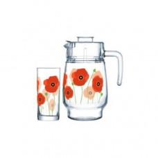 Кувшин со стаканами Arcopal Red Romance P6038 7пр