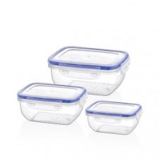 Набор пищевых контейнеров Bager Cook&Lock BG-504 (0.4л/0.8л/1.4л)