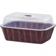 Хлебница Violet House Вязание MIX 0880 c крышкой (27*20*14см)