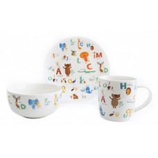 Детский набор столовой посуды Astera ABC A0690-KS-06 3 пр.