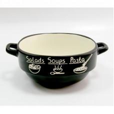 Тарелка суповая Astera Black Stone A04100-165619 (680мл) 14см