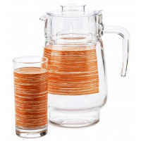 Набор питьевой кувшин + стаканы Luminarc Brush Mania Orange P7451 7пр.