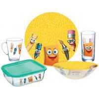 Детский набор столовой посуды Luminarc Stationery P7866 5пр.