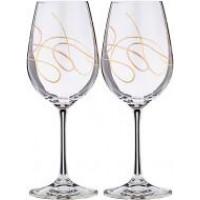 Набор бокалов для вина Bohemia String b40729-CH009 (350мм) 2шт