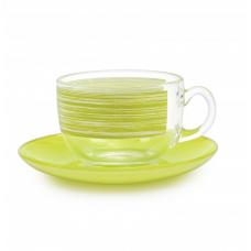 Чайный сервиз Luminarc Brush Mania Green P8982 (220мл) 12 пр