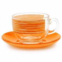 Чайный сервиз Luminarc Brush Mania Orange P8984 (220мл) 12 пр.
