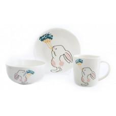 Детский набор столовой посуды Astera Bunny A0690-KS-04 3пр.