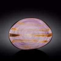 Блюдо камень Wilmax Scratch Lavander WL-668742 / A (33х24,5см)