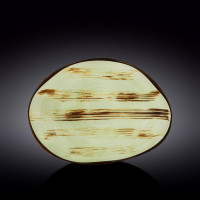 Блюдо камень Wilmax Scratch Pistachio WL-668142 / A (33х24,5см)