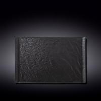 Тарелка прямоугольная Wilmax Slatestone Black WL-661110 / A (33,5х20,5см)