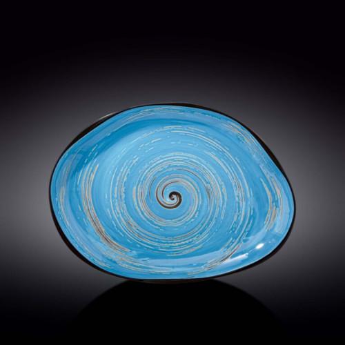 Блюдо камень Wilmax Spiral Blue WL-669642 / A (33х24,5см)