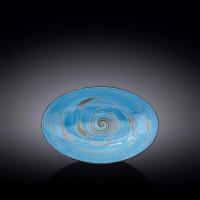 Блюдо овальное глубокое Wilmax Spiral Blue WL-669640 / A (25х16,5х6см)