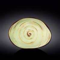 Блюдо камень Wilmax Spiral Pistachio WL-669142 / A (33х24,5см)