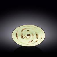Блюдо овальное глубокое Wilmax Spiral Pistachio WL-669140 / A (25х16,5х6см)