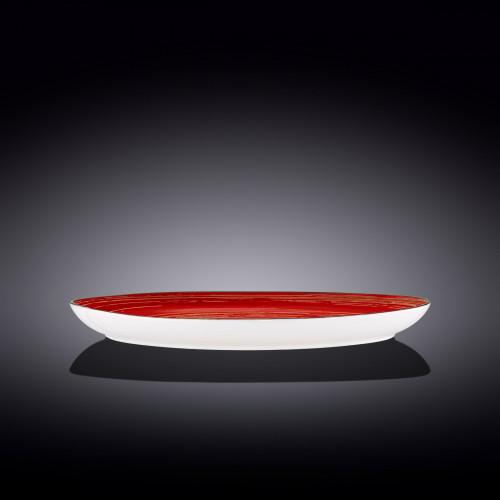 Блюдо камень Wilmax Spiral Red WL-669242 / A (33х24,5см)