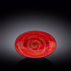 Блюдо овальное глубокое Wilmax Spiral Red WL-669240 / A (25х16,5х6см)