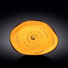 Блюдо камень Wilmax Spiral Yellow WL-669442 / A (33х24,5см)