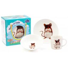Детский набор для завтрака Milika Cute Hamster M0690-KS-2005 3пр